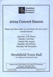 2004 Season Poster