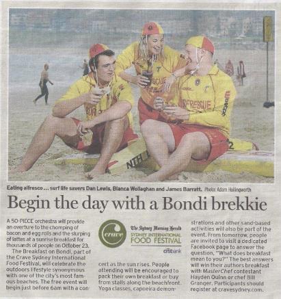 2011 Breakfast at Bondi SMH
