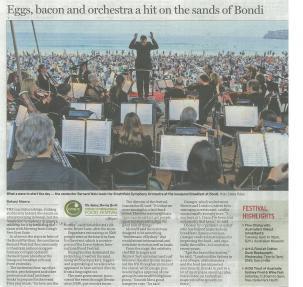 2011 Breakfast on Bondi SMH post concert